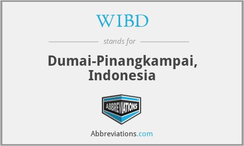 WIBD - Dumai-Pinangkampai, Indonesia
