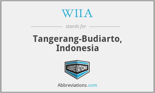 WIIA - Tangerang-Budiarto, Indonesia