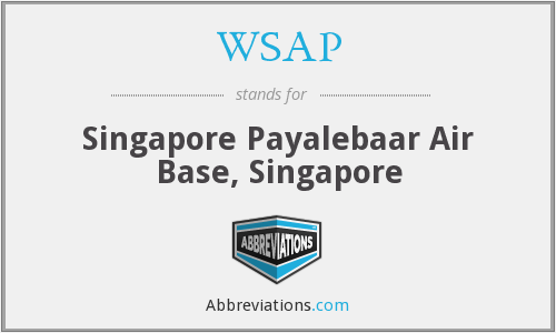 WSAP - Singapore Payalebaar Air Base, Singapore