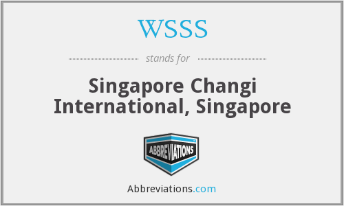 WSSS - Singapore Changi International, Singapore
