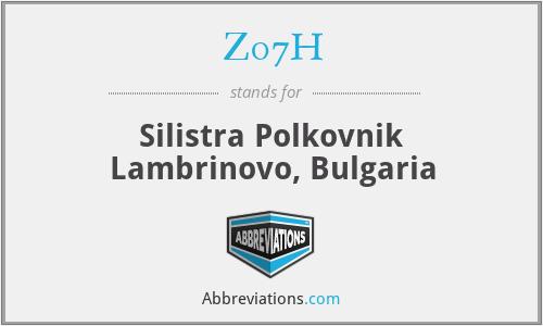 Z07H - Silistra Polkovnik Lambrinovo, Bulgaria