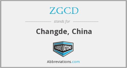 ZGCD - Changde, China