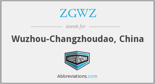 What does ZGWZ stand for?