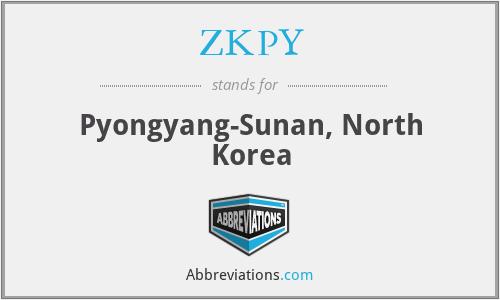 ZKPY - Pyongyang-Sunan, North Korea