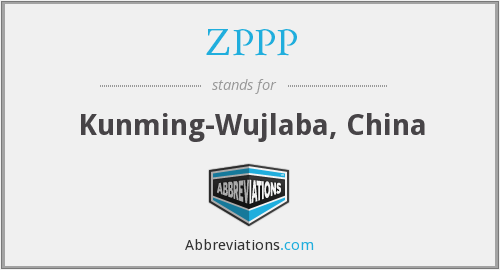 ZPPP - Kunming-Wujlaba, China