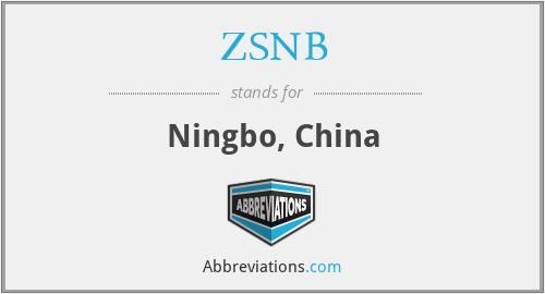 ZSNB - Ningbo, China