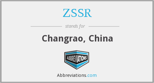 ZSSR - Changrao, China