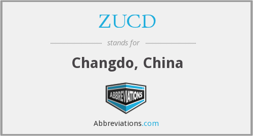 ZUCD - Changdo, China