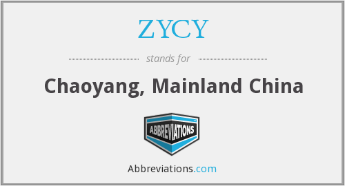 ZYCY - Chaoyang, Mainland China