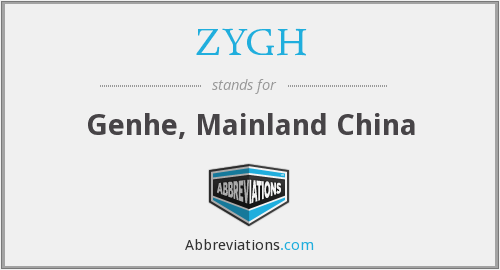 ZYGH - Genhe, Mainland China