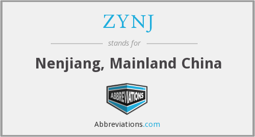 ZYNJ - Nenjiang, Mainland China