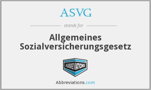 What does ASVG stand for?