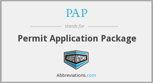 PAP - Permit Application Package