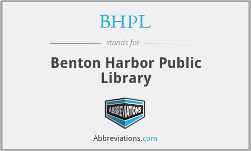 BHPL - Benton Harbor Public Library
