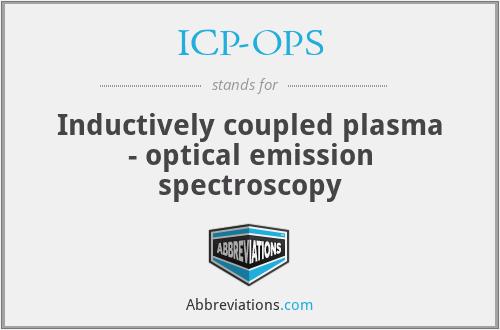 ICP-OPS - Inductively coupled plasma - optical emission spectroscopy