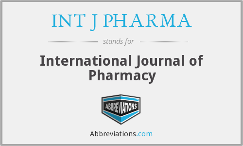 What does INT J PHARMA stand for?