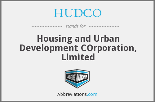 What does HUDCO stand for?