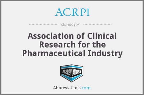 ACRPI - Association of Clinical Research for the Pharmaceutical Industry