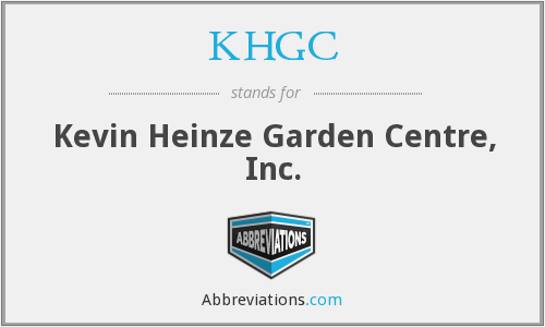 What does KHGC stand for?