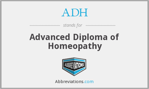 ADH - Advanced Diploma of Homeopathy
