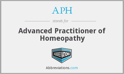 APH - Advanced Practitioner of Homeopathy