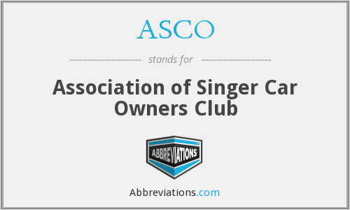 ASCO - Association of Singer Car Owners Club
