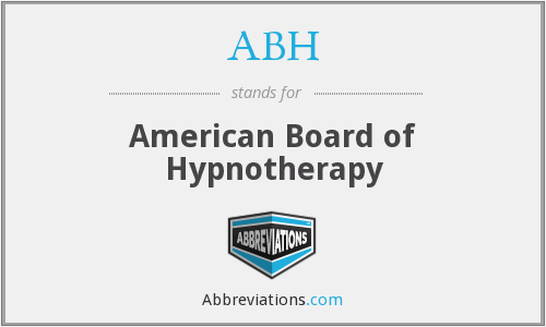 ABH - American Board of Hypnotherapy