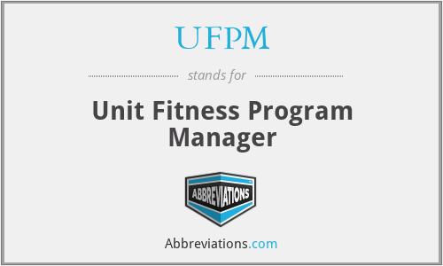 UFPM - Unit Fitness Program Manager