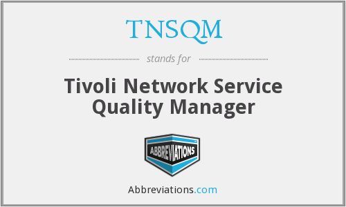 What does TNSQM stand for?