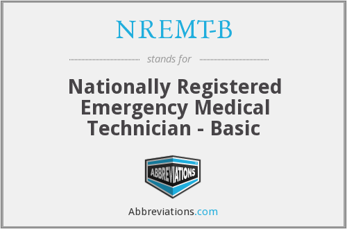 What does NREMT-B stand for?