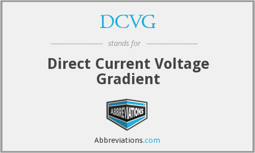 What does DCVG stand for?