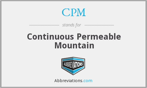 CPM - Continuous Permeable Mountain