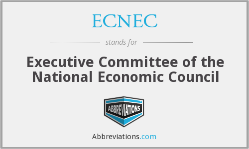 ECNEC - Executive Committee of the National Economic Council