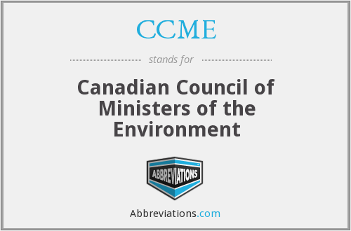 What does CCME stand for?