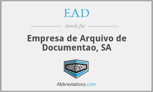 EAD - Empresa de Arquivo de Documentao, SA