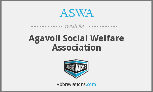 ASWA - Agavoli Social Welfare Association