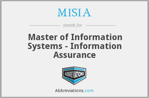MISIA - Master of Information Systems - Information Assurance