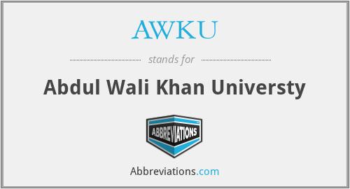 AWKU - Abdul Wali Khan Universty