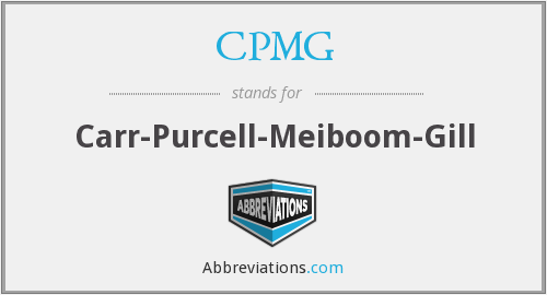 CPMG - Carr-Purcell-Meiboom-Gill