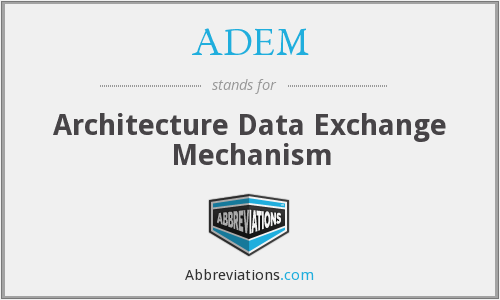 ADEM - Architecture Data Exchange Mechanism