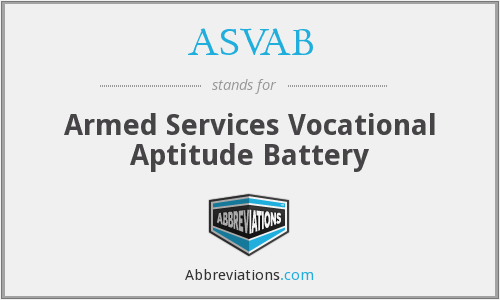 ASVAB - Armed Services Vocational Aptitude Battery