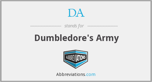 DA - Dumbledore's Army