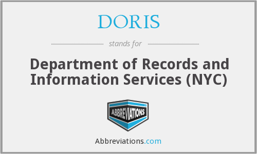 DORIS - Department of Records and Information Services (NYC)