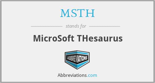 MSTH - MicroSoft THesaurus