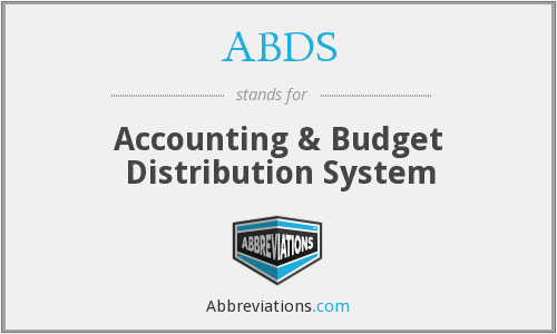 ABDS - Accounting & Budget Distribution System