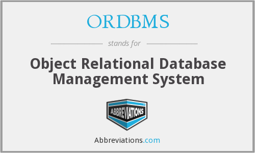 What does ORDBMS stand for?