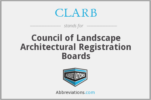 CLARB - Council of Landscape Architectural Registration Boards