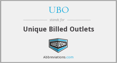 UBO - Unique Billed Outlets