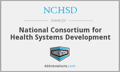 What does NCHSD stand for?