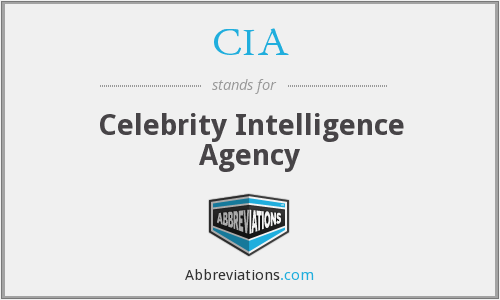 CIA - Celebrity Intelligence Agency